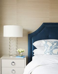 NGS Client Project: A Serene & Sophisticated Apartment Redesign - Nicole Gibbons Style Blue Bedroom, Bedroom Decor, Bedroom Ideas, Design Bedroom, New York Condos, White Room Decor, White Rooms, How To Dress A Bed, Apartment Makeover