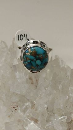 Copper Blue Turquoise Ring Size 10 1/2 by KarinsForgottenTreas on Etsy