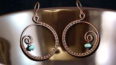 Navajo Seeds  Handcrafted Copper Wire Wrapped by SkyAndBeyond, $22.00