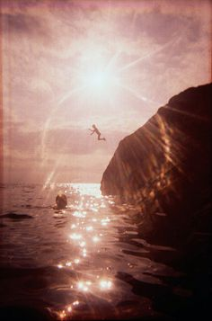 summer cliff Jump water
