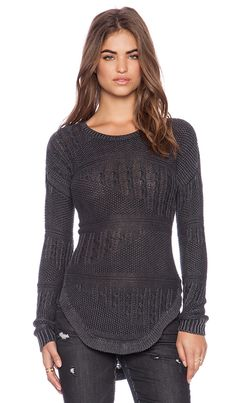 RVCA Florence Sweater in Black | REVOLVE