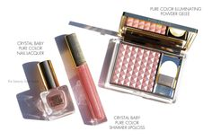 Estee Lauder Crystal Baby Collection | Nail Lacquer, Shimmer Lip Gloss and Illuminating Gelée Powder Blush | The Beauty Look Book
