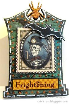 FRIENDS in ART: Gothic Tombstone ATC Swap!!! with @Retro Café Art Gallery