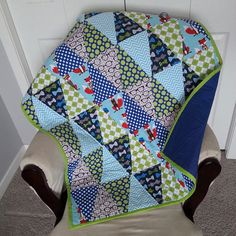 Check out this item in my Etsy shop https://www.etsy.com/listing/224741861/fox-and-the-houndstooth-triangle-quilt
