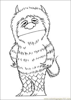 where the wild things are black and white coloring pages.html
