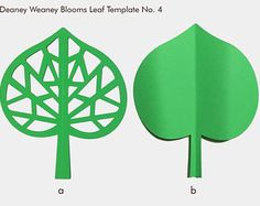 SVG and PDF Printable Digital Leaf - Template # 4. 2 kinds - Cricut and print Ready- Adjustable
