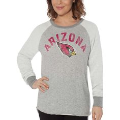15fe52437 Arizona Cardinals Touch by Alyssa Milano Women s Gridiron Pullover  Sweatshirt – Charcoal