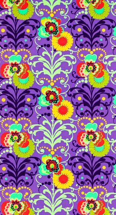 amy butler floral pattern on purple on of my all time favourites!