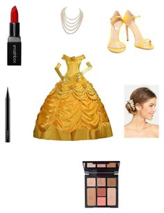 """Belle"" by maddiebelle06 on Polyvore featuring Casadei, DaVonna, Disney, Wedding Belles New York, Smashbox, MAC Cosmetics and Charlotte Tilbury"