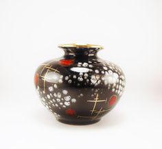 Vintage Mid Century Modernist Black/Brown/Red by BichenVintage