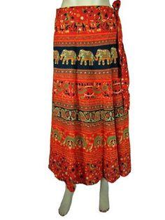 Bohemiam Wrap Skirt Red Orange Sarang Elephant Print Cotton Wraparound Skirts Mogul Interior,http://www.amazon.com/dp/B00CBA5MYQ/ref=cm_sw_r_pi_dp_UoXzrb1FB87E4A80