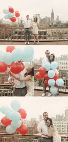 Awwh, balloon photo-op with the cityscape...