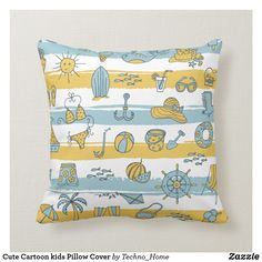Vibrant For nursery themed pillows from Zazzle! We have the perfect pillow for your needs. Soft & cozy in a range of themes & styles. Cartoon Kids, Cute Cartoon, Pillow Cover Design, Pillow Covers, Kids Pillows, Throw Pillows, Perfect Pillow, Techno, Nursery