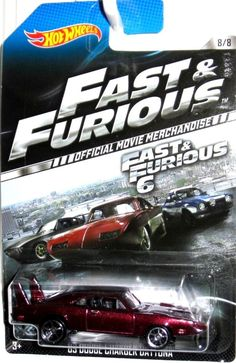 1969 Dodge Charger Daytona Hot Wheels 2014 FAST & FURIOUS 6 Movie Car #8/8 #HotWheels #Dodge