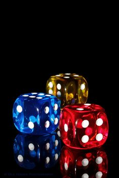 Dice on Black by Ole Houen, via Flickr