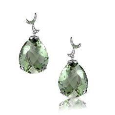 Whispering Earrings - Green Amethyst - Fei Liu #jewellery #feiliu #necklace #luxury #earrings