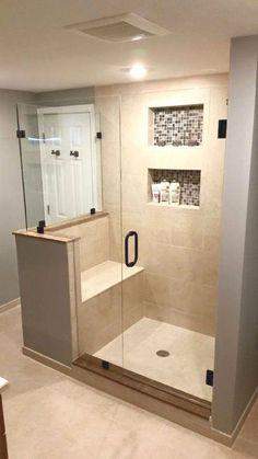 111 awesome small bathroom remodel ideas on a budget 111 tolles kleines Badezimmer umgestalten Ihre Ideen mit kleinem Budget Master Bathroom Shower, Tiny House Bathroom, Simple Bathroom, Basement Bathroom, Bathroom Ideas, Compact Bathroom, Shower Ideas, Bathroom Cabinets, Shower Rooms