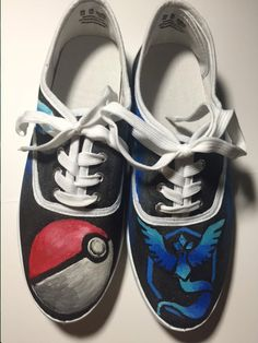 Team Mystic Shoes by ShoesbySues on Etsy