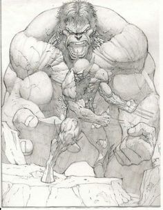 Hulk vs Wolverine...Who's the artist?