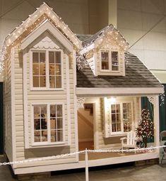 Cottage Playhouse Blueprints – Designed by Tanglewood Design - Kids playhouse Kids Playhouse Plans, Outside Playhouse, Playhouse Kits, Backyard Playhouse, Build A Playhouse, Wooden Playhouse, Outdoor Playhouses, Closet Playhouse, Casas Club