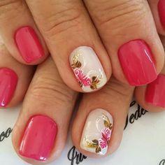 Summer Gel Nails, Spring Nails, Floral Nail Art, Gel Nail Designs, Mani Pedi, Beauty Nails, Pretty Nails, Sony, Finger