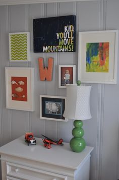The Crawford Clan: William's Room: Gallery Wall
