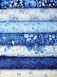 Blue print fabrics