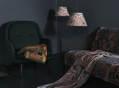 Equinoxe Lampshades with Klaus Haapaniemi blankets