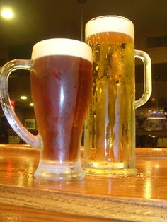 Two frosty beers to cool you down!