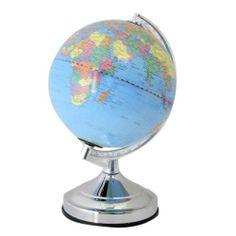 Lloytron L7201CH World Globe 15W 4 Way Touch Control Table Lamp New