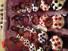1 direction cupcakes I made for McKenzie's 8th birthday party