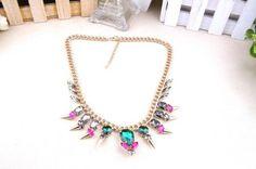 Amazon.com: Colored Stones Fashion Collar Necklace: Beauty