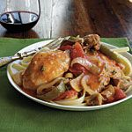 Chicken Cacciatore Recipe | MyRecipes.com I would leave out the flour and fettuccine and maybe add less wine