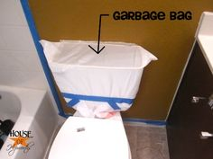 If you've never painted a bathroom before, here's a tip that will save you time and effort.  I repined this from www.houseofhepwor...