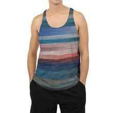 Men's Tank with Colorfull Abstract Stripes Tank Man, Men's Fashion, Stripes, Slim, Tank Tops, Stylish, Fabric, Collection, Men Fashion