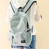 Cheap Preppy Style Young Simple Waterproof Pure Color Letters Belts Fresh School Bag Travel Backpack For Big Sale! Preppy Mode, Style Preppy, High School Bags, Cute School Bags, Backpacks For Teens School, Backpack For Teens, College Backpacks, Cute Backpacks, Girl Backpacks