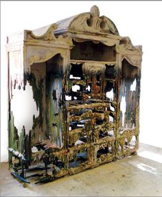 """""""Shipwrecked Armoire with Barnacles"""" by Valerie Hegarty"""
