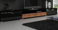 Szafka RTV czarna #nowoczesnemeble #mebledosalonu #meble #minimalistycznemeble #mebleniemieckie #dom #aranzacjedom #aranzacje