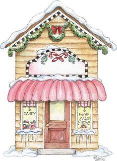 Christmas House Drawings Printable-Stock and drawings to print Christmas Graphics, Christmas Clipart, Pink Christmas, Christmas Printables, Vintage Christmas, Christmas Crafts, Xmas, Christmas Ornaments, Christmas Mantles