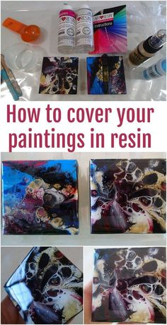 Video tutorial for how to cover your acrylic paintings in resin. Beginner tutorial for resin.