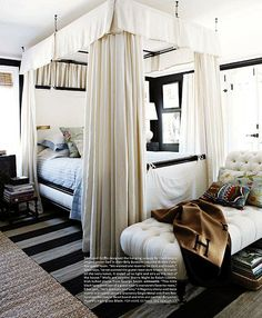 Mark D. Sikes & Michael Griffin's - Guest Bedroom 1920's Los Angeles home. Published House Beautiful Dec/Jan 2012