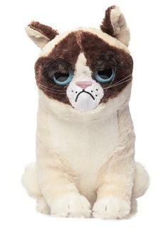 A stuffed Grumpy Cat.