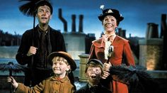 Mary Poppins, Bert, Jane and Michael