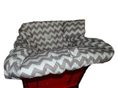 Shopping Cart Cover for baby or toddler girl or boy  - Gray Chevron on Etsy, $45.00