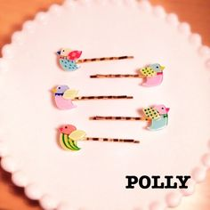小鳥のヘアピン by polly アクセサリー ヘアアクセサリー