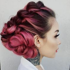 "Heather Chapman Hair on Instagram: ""When @maneaddicts attends your workshop & you bust out this hairstyle ❤️ Has to be one of my 2015 faves by far!!! #hairlove #updoworkshop #manemoment #heatherchapmanhair #pink #pinkhair"""