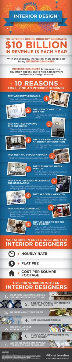 Business infographic & data visualisation 10 Reasons for Hiring an Interior Designer… Infographic Description 10 Reasons for Hiring an Interior Designer – Infographic Source – - #Business