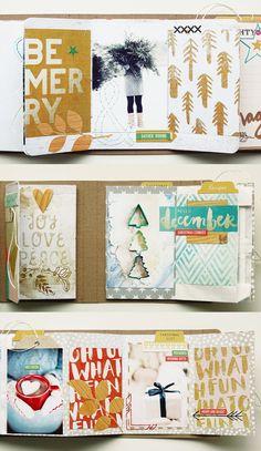 mini book : winter theme by ania-maria at @studio_calico