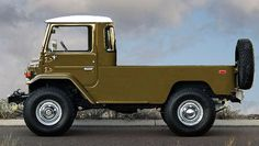 FJ40 Land Cruiser chopped electronically into a truck.