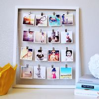 Cadeau DIY : un cadre photo spécial Polaroid© - DIY Ideen Diy Photo, Diy Projects To Try, Craft Projects, Diy Room Decor, Wall Decor, Home Decor, Bedroom Decor, Photowall Ideas, Exposition Photo